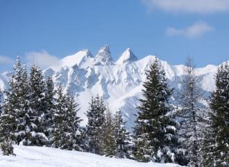 Vue du massif depuis Valmeinier